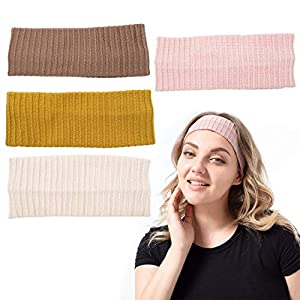 Toderoy Headbands for Women Knotted Boho Hair Bands for Girls Turban Headwrap Yoga Workout Vintage Hair Accessories for Lady … (Set 1)