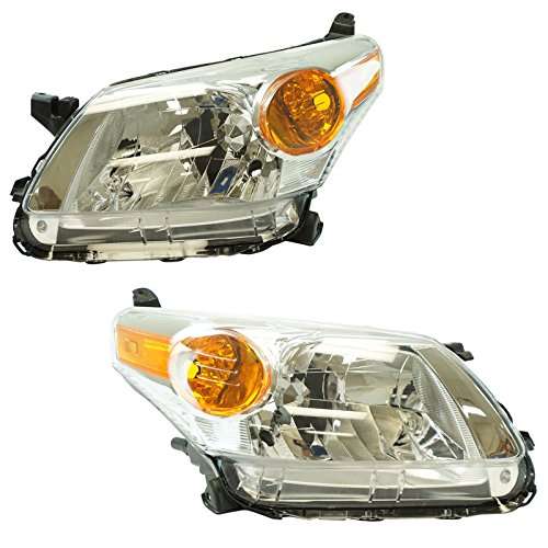 Headlight Lamp Assembly Pair LH Driver & RH Passenger Set for 08-12 Scion xD