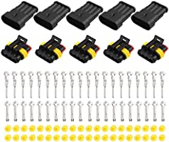 X AUTOHAUX 10pcs 1 Pin Way Car Waterproof Electrical Wire Cable Connector