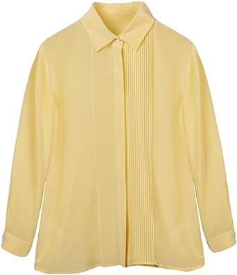 CISULI - Camisa de Seda Natural para Mujer, 100% Seda: Amazon.es: Ropa y accesorios