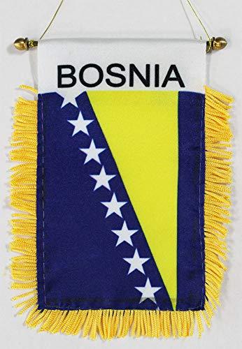 Bosnia-Herzegovina (Current) ~ Window Hanging Flag ()