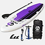 NIXY All Around Inflatable Stand Up Paddle Board. Ultra Light 10'6'' Newport Purple & White Paddle Board Built with Advanced Fusion Laminated Dropstitch Technology and 2 YR Warranty