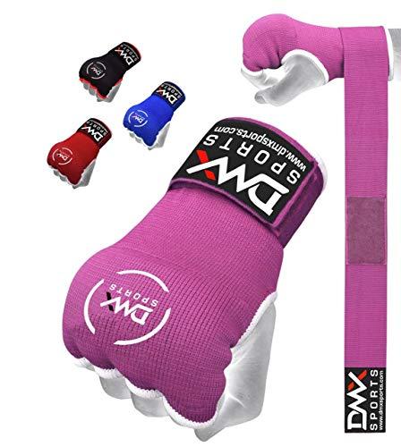 DMX Sports Gel Padded Inner Gloves Training Gel Elastic Hand Wraps for Boxing Gloves Quick Wraps Men & Women Kickboxing…