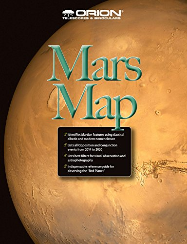 - Orion 51924 Mars Map and Observing Guide (Black)