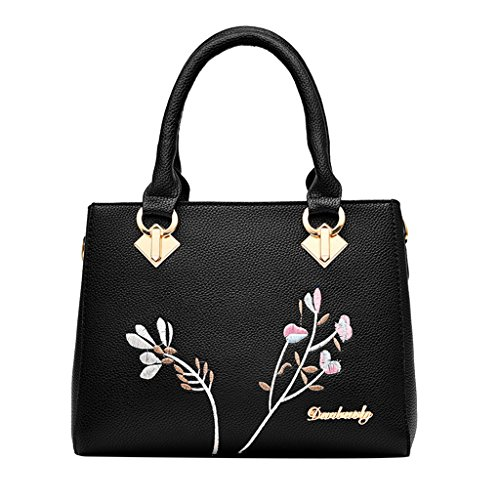 Tote Handbag Bags Prettyia Messenger Satchel Purse P Hobo Shoulder Bag Fashion Embroidery Women IqpYIw0xZ