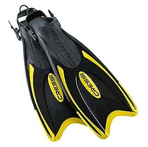 Cressi Palau Viaje Snorkel Aletas Peso Ligero Negro y Amarillo Talla:XS/S