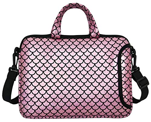 "10.5-Inch Laptop Ipad Shoulder Carrying Bag Case Sleeve for 9.6"" 9.7"" 10"" 10.1"" 10.5"" Ipad/Netbook/Tablet/Reader, Mermaid Scale (Pink)"