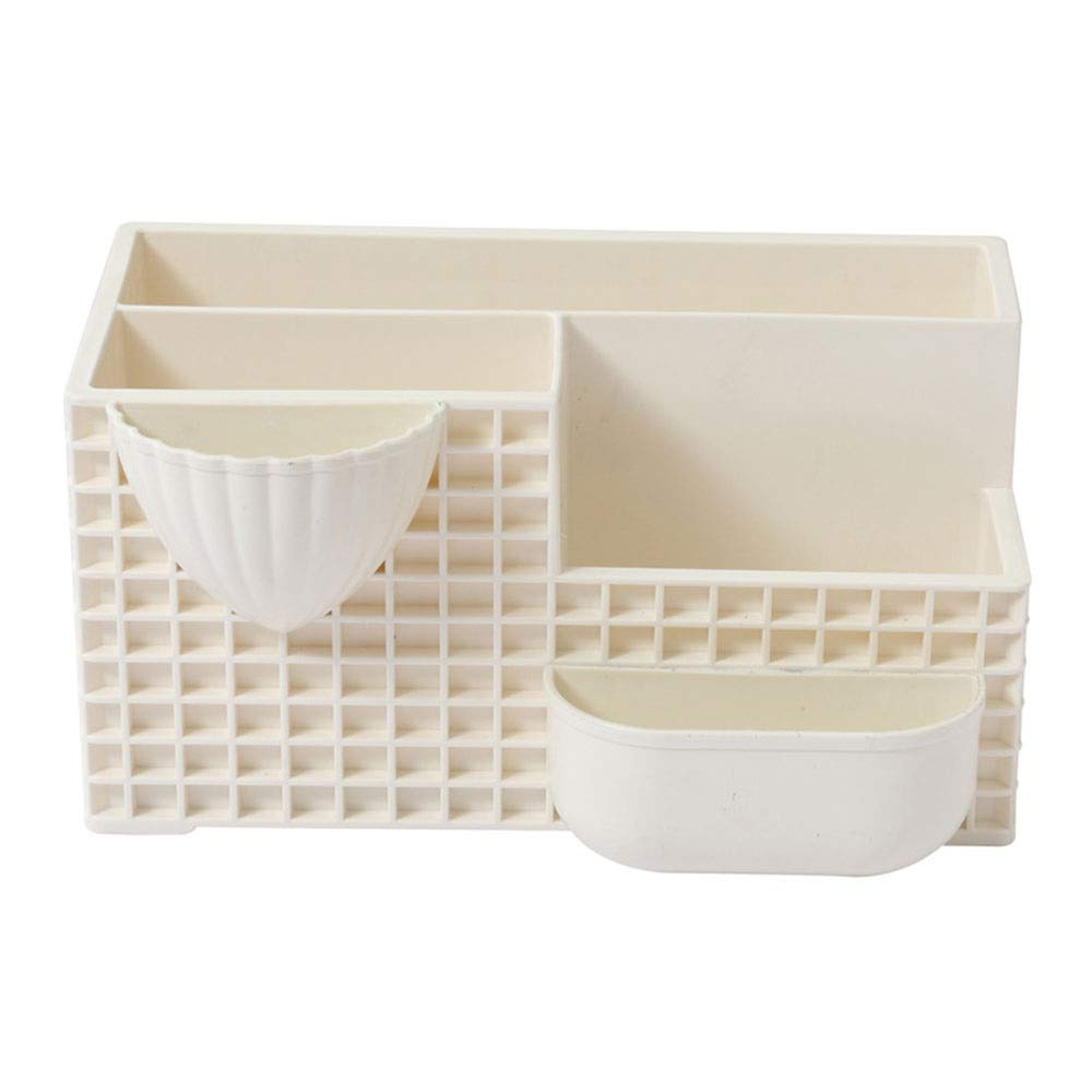Combination Flower Pot Creative Plastic Potted Green Planting Tabletop Potted Plants (Color : Beige)