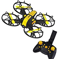 Buolo Quadcopter With Camera X1 2.4G 2.4GHz Plug-in 4-Axis Mini DIY RC Drone Quadcopter 720P Camera FPV (Yellow)