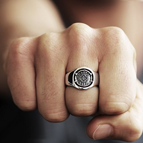 Carpe Diem Jewelry Mens Signet Ring 925 Sterling Silver Man Jewellery by Carpe Diem Jewellery