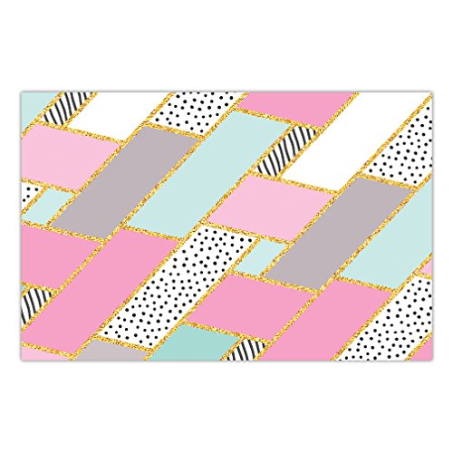 DB Party Studio Paper Placemats 25 Pack Fun Geometric Style Baby Bridal Shower Teenage Girl Sweet Sixteen Birthday Event Disposable Place Mats Lunch Dinner Easy Cleanup Table Setting Decor 17
