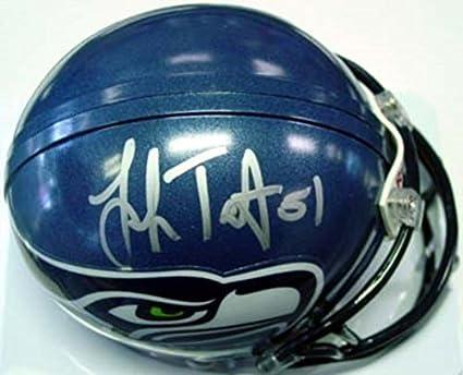 Amazon.com  Lofa Tatupu Autographed Seattle Seahawks Mini Helmet PSA ... 1adeb87f6