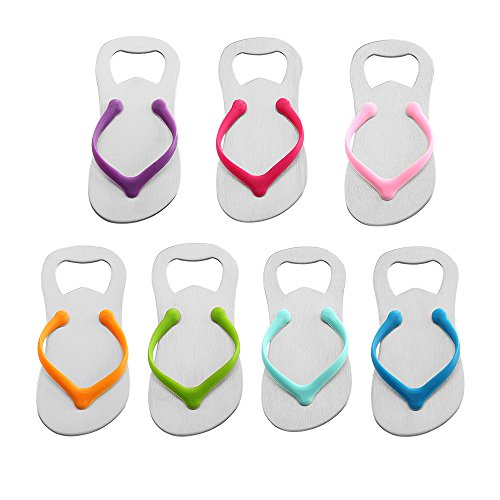 QLL 7 pack Flip-flop Bottle Opener, Gift Wrap for Each Opener