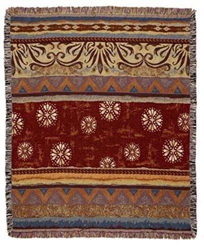 Simply Home Western Santa Fe Tapestry Afghan Throw Blanket 50