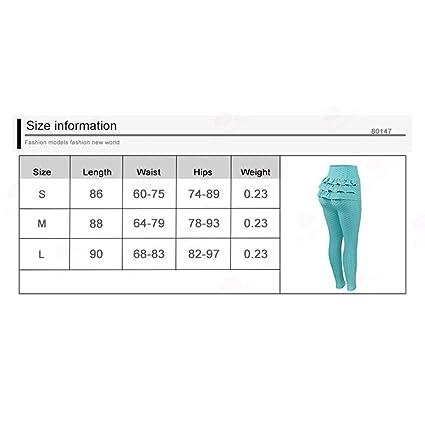 Deportes Mujeres Yoga Fitness Running Pantalones Color Puro Moda Wave  Ruffle Leggings Ladies Sexy Slim Fit Apretados Pantalones Largos 4 Colores  S 36716785d4c9