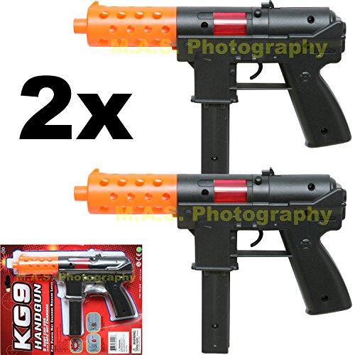 Set of 2 - Toy Police Assault Pistol Hand Gun Includes Sound