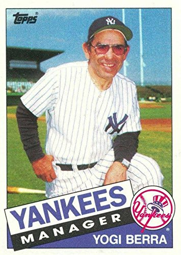 Yogi Berra Baseball Card New York Yankees 1985 Topps 155 At