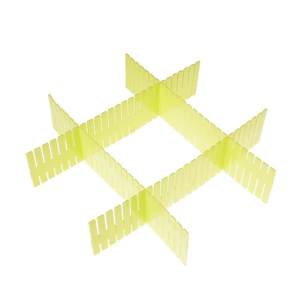 4 pcs particiones libre combinación plástico rejilla cajón divisor organizador: Amazon.es: Hogar