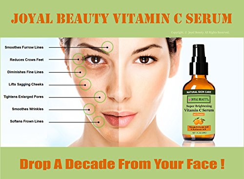 Joyal Beauty Super Brightening Vitamin C Serum For Anti-aging, Repairing Sun Damage and Skin Whitening, 1 Fluid Ounces