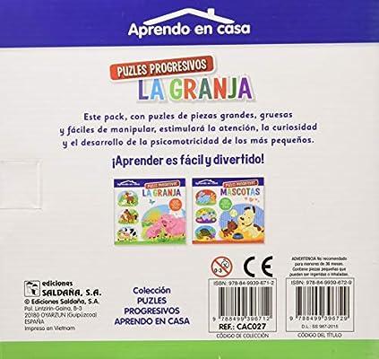 APRENDO EN CASA PUZZLES PROGRESIVOS: 2: Amazon.es: PATIMPATAM: Libros