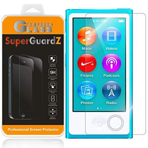 [3-Pack] for iPod Nano 7 (7th Gen) Screen Protector Tempered Glass, SuperGuardZ, 9H, 0.3mm, Anti-Scratch, Anti-Bubble, Anti-Fingerprint [Lifetime - Ipod Nano Screen 3