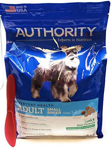 Authority Adult Small Breed Dry Dog Food Lamb and Rice 6lbs and Especiales Cosas Mixing Spatula