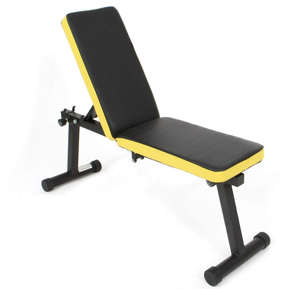 LARRY SHELL Home Gym Weight Bench Dumbbell Bench Height Adjustable, Multi-Functional Exercise Bench, Foldable and Easy to Carry, Great for Increasing Muscle Strength