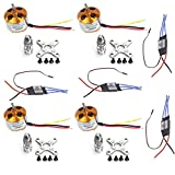 JMT 4Sets/lot A2212 1000KV Brushless Outrunner Motor + 30A Speed Controller ESC ,RC Aircraft 4 Axis Quadcopter UFO