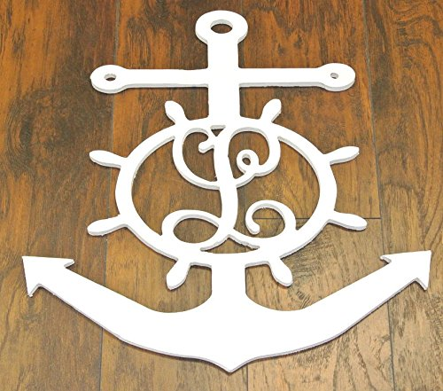Custom-Wooden-Anchor-and-Monogram-Initial-Wall-Decoration-Wooden-Anchor-and-Monogram-Initial-Door-Hanger