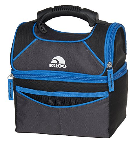 Gripper Cooler (Igloo Playmate Gripper 9 Tech Basic, Black/Blue, 9 Cans)