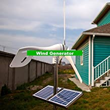 GOWE Small Wind Generator For Boat , Wind mill generator Combined With Wind/Solar Hybrid Controller