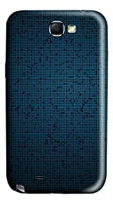 Blue Fine Grid Pattern Background PC Hard Case Cover For Samsung Galaxy Note 2/Note II/N7100