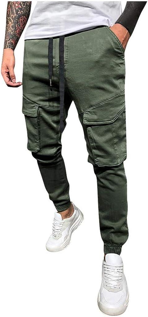 Vectry Pantalones Hombre Casual Letra Suelta Cordón Sólido Cintura Elástica Pantalones Largos Pantalones 2020 Casual Pantalon Chandal Hombre