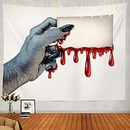Shrahala Creepy Tapestry, Scary Halloween Wall Hanging Large Tapestry Psychedelic Tapestry Decorations Bedroom Living Room Dorm -