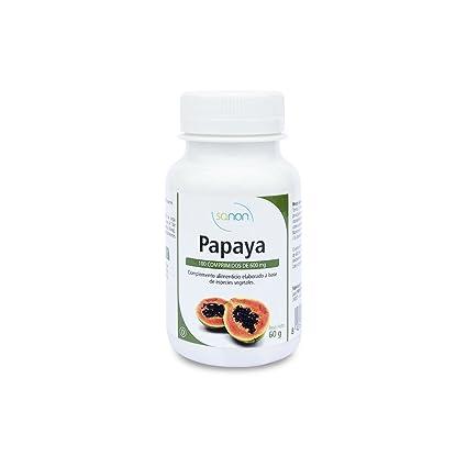 Papaya con enzimas digestivas