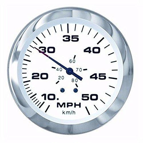 (Sierra International 61752P Lido Pitot Type 10 to 50 Mph Dial Range Scratch Resistant Speedometer Kit, 3