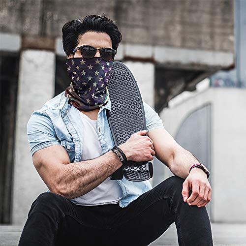 Unisex Rave Bandana Face Mask for Dust Wind Sun UV Protection Neck Gaiter/Face Scarf/Face Cover