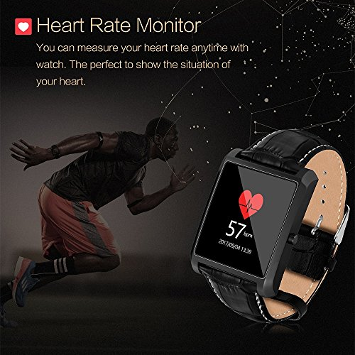 PINCHU Smart-watch MTK2502 Heart Rate Monitor fitness tracker syn Android iOS iPhone fashion 2018 lemfo Bluetooth Wearable Device, A by PINCHU (Image #2)