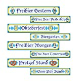 Beistle 57769 4-Pack Oktoberfest Sign Cutouts, 4 by 24-Inch
