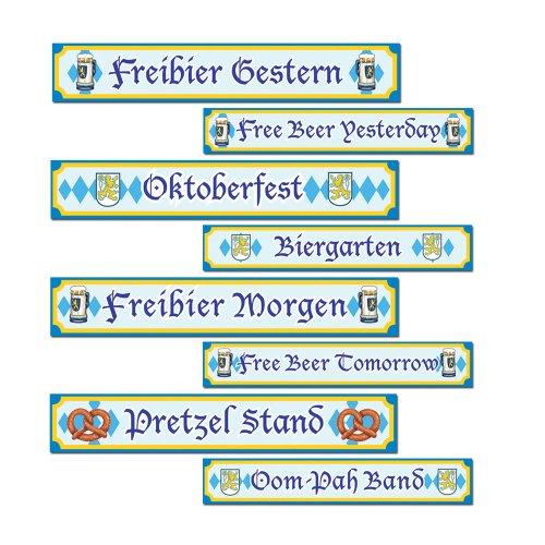 Beistle - Oktoberfest Sign Cutouts -