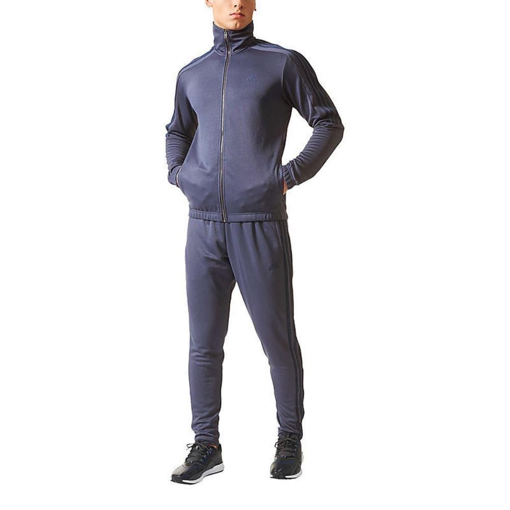Adidas Men's Tiro Track Suit 3 Stripes Tracksuit Trace Blue/Navy Medium