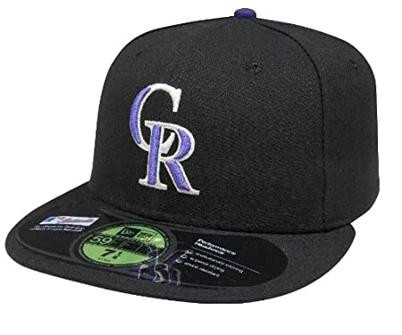 info for 4b0ed 7a134 Amazon.com   New Era 59Fifty MLB Colorado Rockies Home On Field Fitted Hat    Clothing