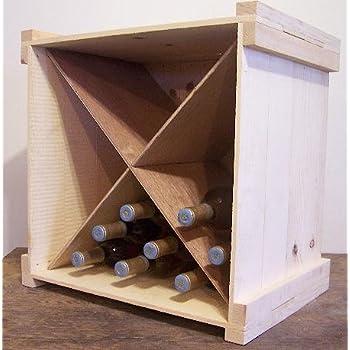 Amazon Com Wooden Wine Or Beverage Bottle Storage Box