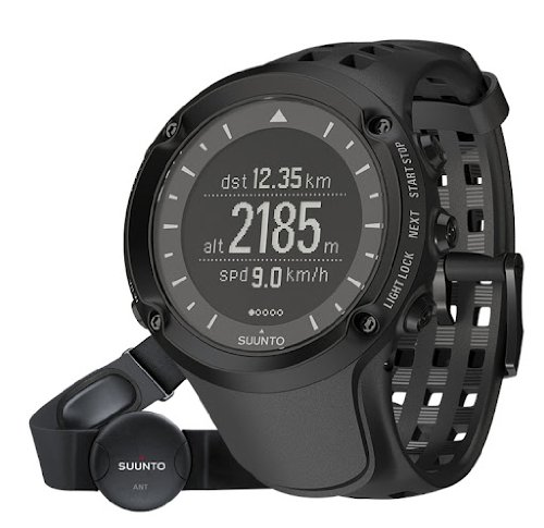 Suunto Men's ss018373000 AMBIT 1 (HR) GPS/Heart Rate Sports Watch with Strap, (Peak Compass Watch)