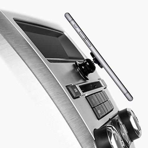 grooveclip CD2 Slider | KFZ-Halterung f/ü r den CD-Schlitz | Handyhalterung mit Slider-Technologie Halterung | passt in jeden gew/ö hnlichen Auto CD-Player | universell f/ü r Apple iPhone Samsung Navi uvm ICONICO GmbH ICGC027-S