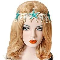 Patiky Womens Girl Starfish Hairband Beach Starfish Shell Headband Flower Hemp Rope Hair Band Headwear TS03 (Starfish)
