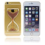 Shopping_Shop2000® 3D Liquid Sand Clock Hourglass Timer Transparent Hard Case Cover Shell for iPhone 6 6s Plus (5.5