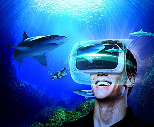 Sharper Image Smartphone 360 Virtual Reality Headset With Audio Jack