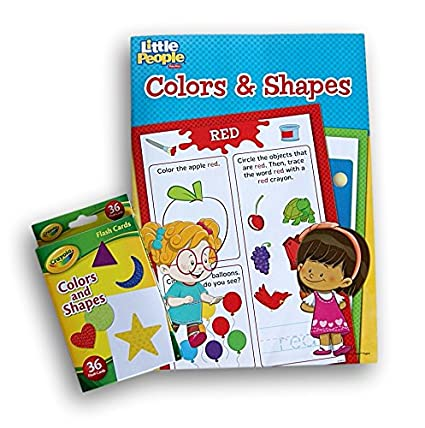 43774c091 Buy Colors   Shapes Learning Activity Bundle - Fisher Price Little People  Workbook and Crayola Flash Cards Online at Low Prices in India - Amazon.in