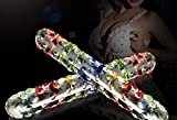 Double Headed Crystal Glass Magic Wand Fake P-énis Anal Butt Plug Female Masturbation Gay Sex Toy Massage Stick for Women